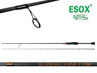 Prut ESOX ULTRA LIGHT SPECIAL 180 cm / 2-10 g